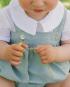 Ranita verde bebé niño