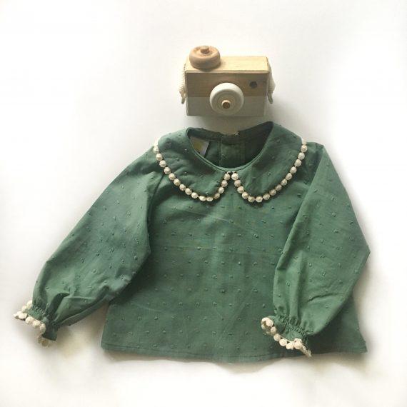 blusa verde lentejitas
